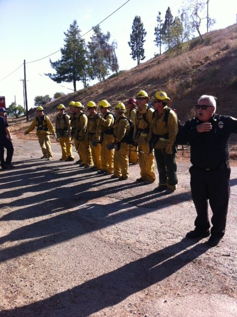 Attendees of the IBHS/Fair Plan Executive Wildland Fire Summit were treated to a fire crew demonstration at L.A. County Fire Station #8, Malibu.